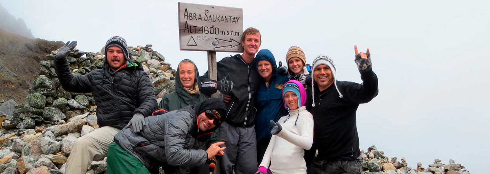 the top of the salkantay montain