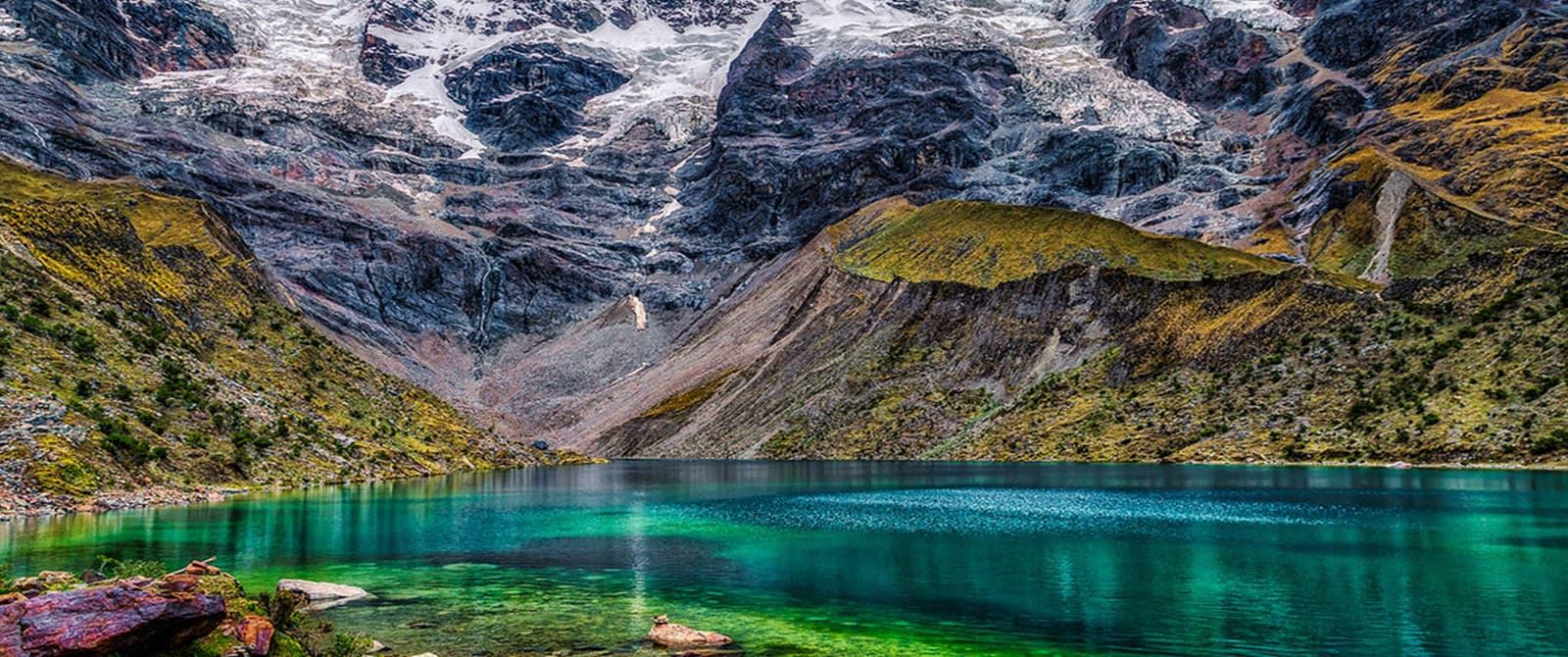 beautifull view of humantay lake