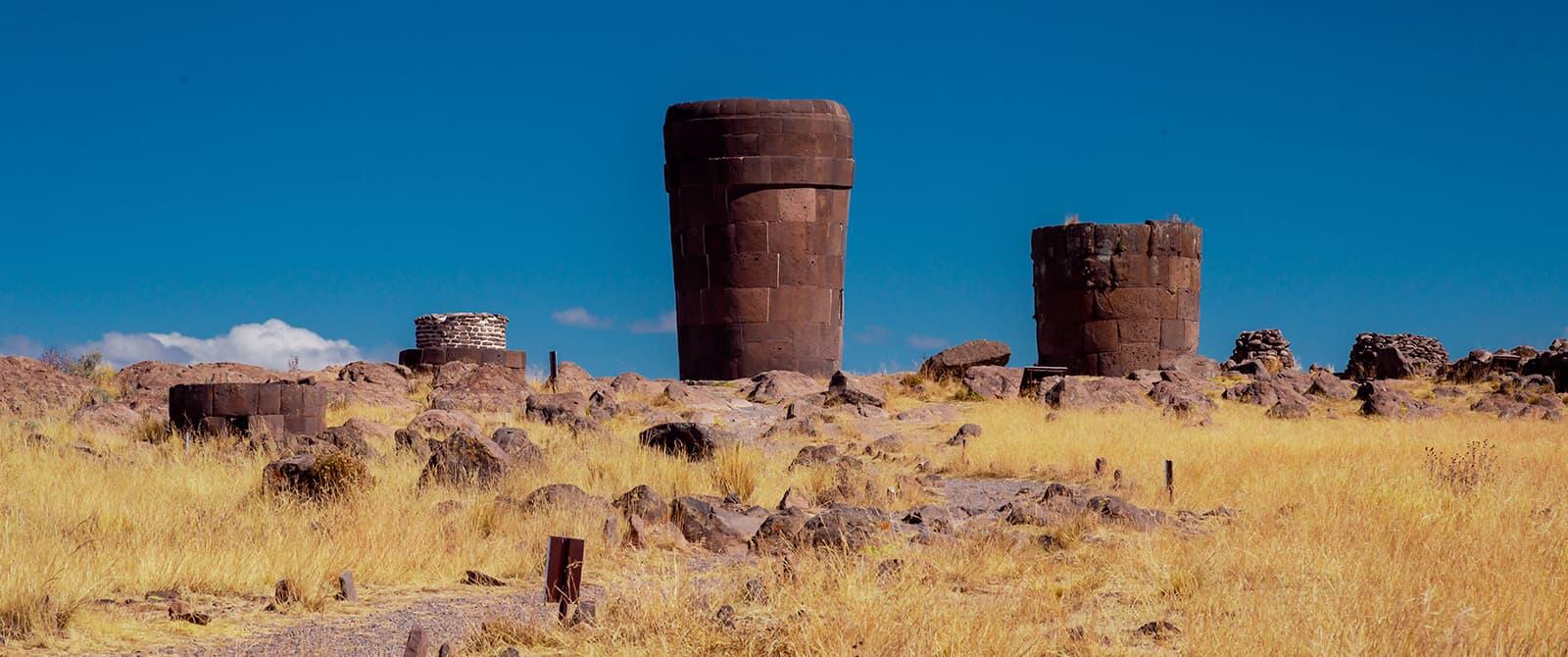 chulpas of sillustani in Puno