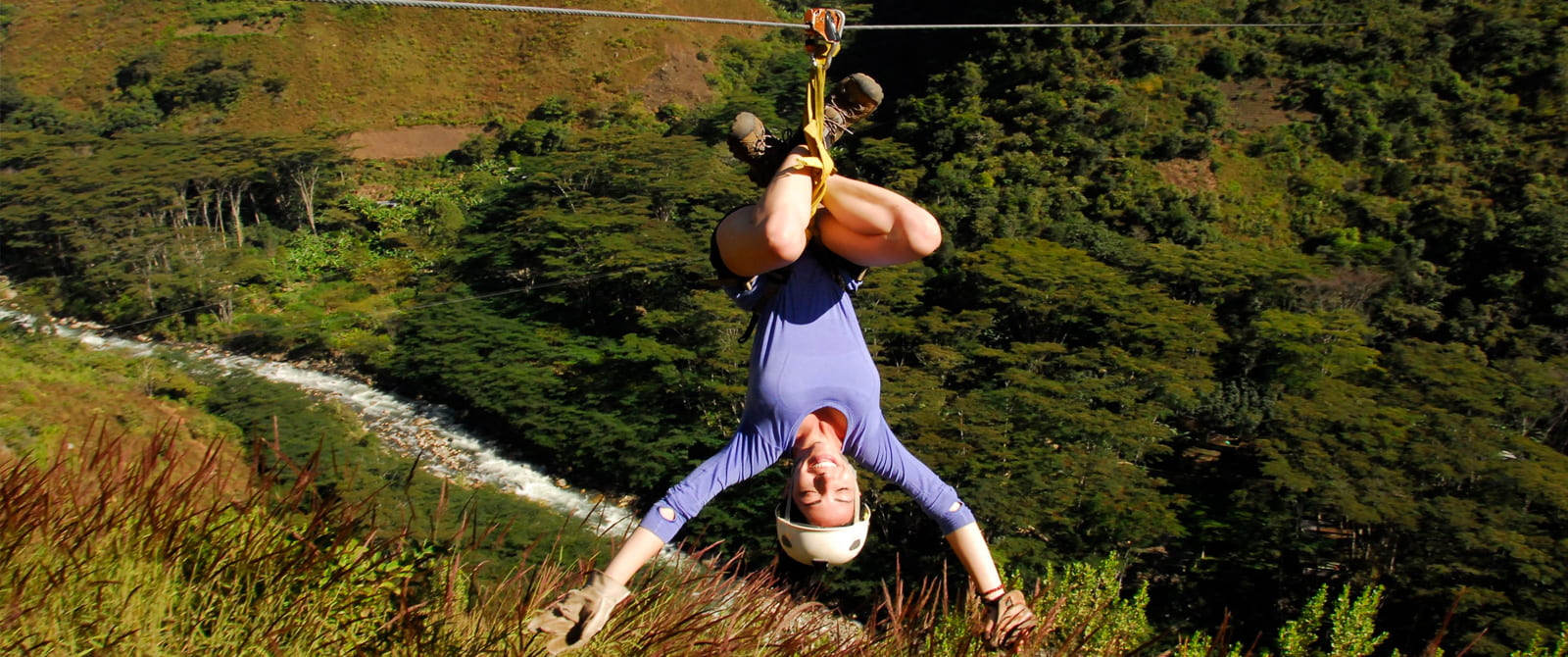 zipline in inka jungle trek